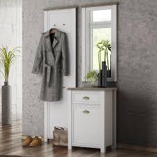 garderobe weiss landhausstil paneel garderobe haus ideen