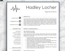 new grad rn resume template resume etsy