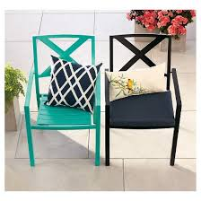 Patio Furniture Metal Afton Metal Stacking Chair Turquoise Threshold Target