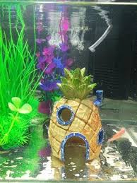 Spongebob Aquarium Decoration Fish Tank Ornaments Set of 3
