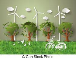 art of recycle concept art of recycle on earth paper cut style stock illustration