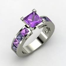Purple Wedding Rings by Best 25 Purple Rings Ideas On Pinterest Amythest Ring Pretty