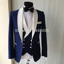 wedding suits wedding suits 2017 new brand design real groomsmen white shawl