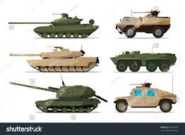 military transport vehicles military vehicle different artillery machines support stock vector