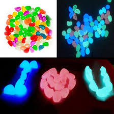 50pcs glow in the stones garden ornaments fish tank landscape