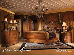 Cortina Luxury King Bed Carved Wood  Piece Bedroom Set W Chest - 7 piece bedroom furniture sets