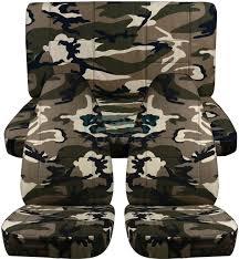 green camo jeep camouflage car seat covers full set semi custom tree digital