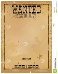 template is wanted dead or alive stock vector image 66950274