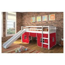 Kid Loft Beds Wasila Kids Loft Bed With Slide White Twin Acme Target