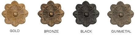 Window Treatment Hardware Medallions - passage wrought iron metal drapery hardware flower medallion top