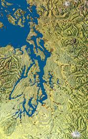 Map Of Washington State Coast by Coast Salish Villages Of Puget Sound