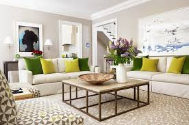 console table behind sofa cube ottoman in living room transitional with benjamin moore glass