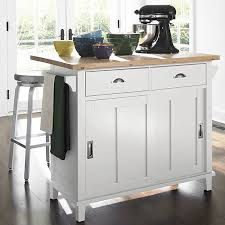 crate and barrel kitchen island white crate and barrel kitchen island with colorful ceramics and