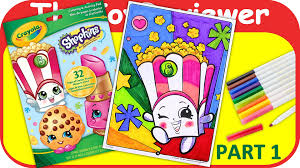 shopkins coloring pages videos part 1 shopkins coloring book poppy corn crayola markers unboxing