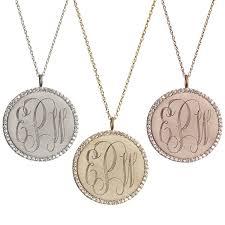 monogramed jewelry golden thread