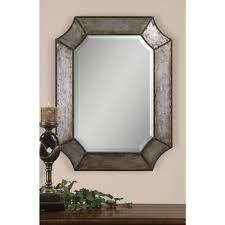Metal Framed Mirrors Bathroom Global Direct 24 In X 32 In Decorative Metal Framed Mirror 13628