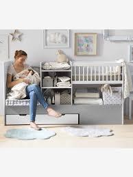 chambre bébé vertbaudet lit bébé 4 en 1 evolunid blanc gris clair vertbaudet