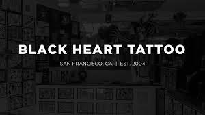 tattoo prices san francisco black heart tattoo best tattoo shop in san francisco ca est 2004