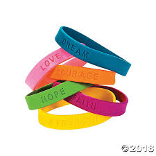 bracelet rubber images Inspirational sayings rubber bracelets