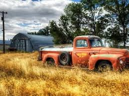 rusty pickup truck rusty old red pickup truck car gigantic print poster ebay
