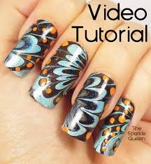 Water Challenge Tutorial Butterfly Water Marble Nail Tutorial From The April