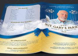 military funeral service program template godserv market
