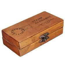 30pcs pack design capital letter retro vintage wooden
