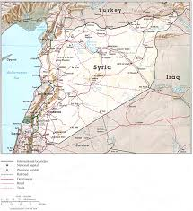 Syria Map Location by Nationmaster Maps Of Syria 19 In Total