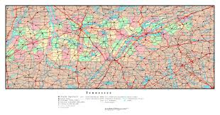 Major Cities Of Usa Map by Large Detailed Administrative Map Of Tennessee State With Roads