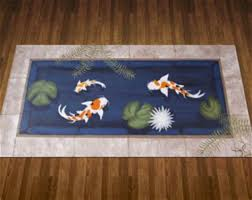 Koi Outdoor Rug Koi Outdoor Rug Kana Global Coastal Blue Koi Outdoor Rug Once