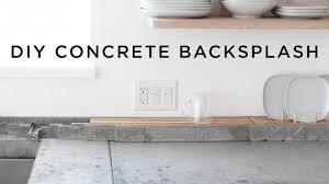 diy concrete backsplash and dish rack youtube