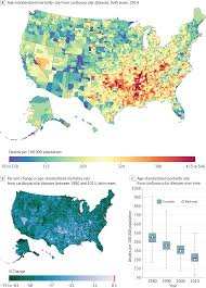 Black Death Map Us County Level Trends In Mortality Rates For Major Causes Of