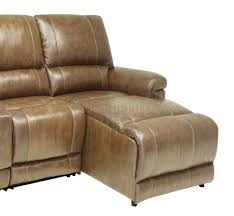 full leather 4pc modern reclining sectional sofa