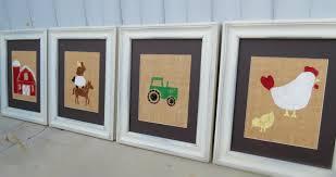 Farm Animal Nursery Decor Farm Animal Nursery Decor Kid S Wall Prints On Burlap 8x10