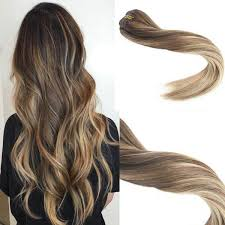 ombre clip in hair extensions 7pcs remy human hair extensions clip in color 4 brown