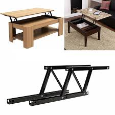 lift up coffee table mechanism with spring assist 1 par lift up mesa de centro superior bisagras hardware de bricolaje