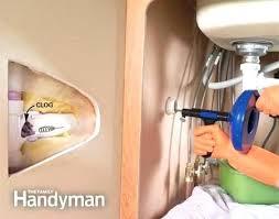 Kitchen Sink Blockage Great Crafty Snake Kitchen Sink Unclog A Family Handyman Clefairy