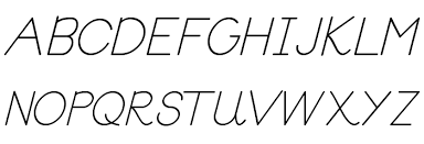 block letters tryout font