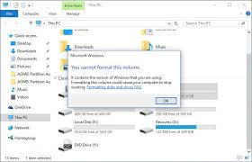 format hard disk bootmgr missing how to fix you cannot format this volume error in windows 8 10