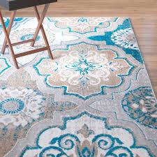 Area Rugs With Turquoise And Brown Winston Porter Albion Blue Brown Area Rug Reviews Wayfair