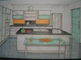 dessiner en perspective une cuisine dessin fabrice