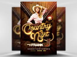 template flyer country free country night western flyer template flyerheroes