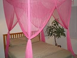 Pink Canopy Bed Octorose 4 Poster Bed Canopy Netting Functional