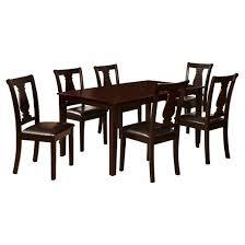 Dining Table Set Espresso Mibasics 7pcs Caldwell Dining Table Set Wood Espresso Target