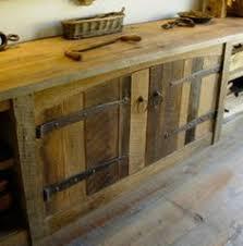 Reclaimed Wood Kitchen Cabinets Rustic Bathroom Reclaimed Barn Siding And Galvanized Steel