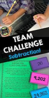 team challenge subtraction with regrouping and fun the