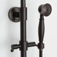 rubbed bronze 8 shower systems with handheld shower