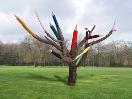 artist dave rittinger proposed this color pencil tree as a