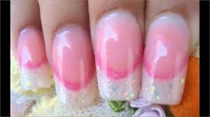 make cute acrylic nail designs with rhinestones hd youtube