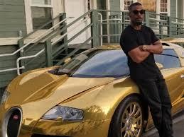 bugatti gold and jamie foxx shows off his gold bugatti veyron carbuzz